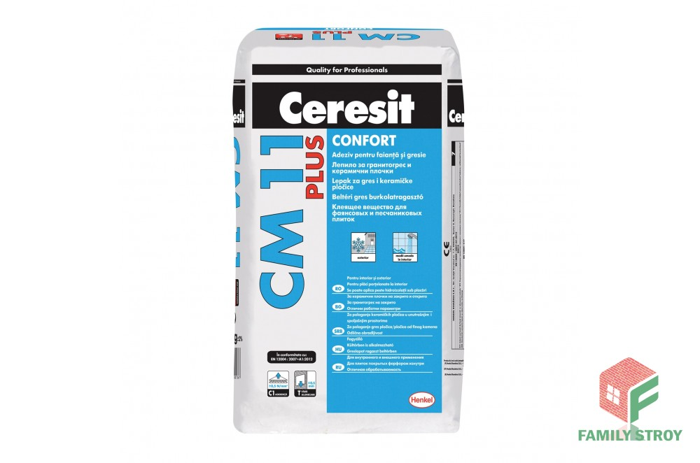Клей для плитки см-11, 25кг Ceresit