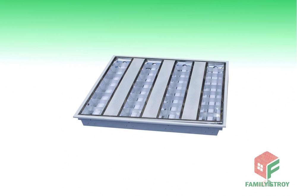 Растровый LED-светильник встр. с лампами 3000люм, 40Вт