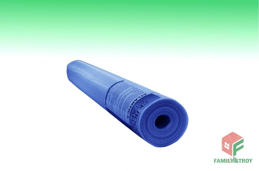 Сетка фасад. штукатур. 1х50м 140гр/м2 ячейка 5*5  синяя