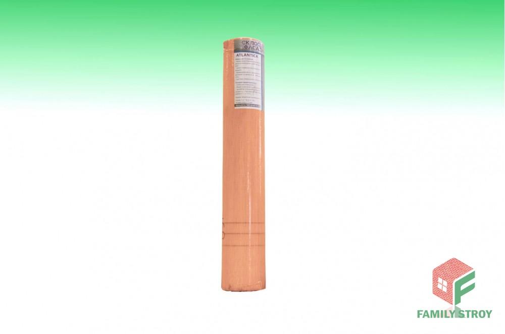 Сетка фасад. штукатур. 1х50м 160гр/м2 ячейка 5*5 оранжевая