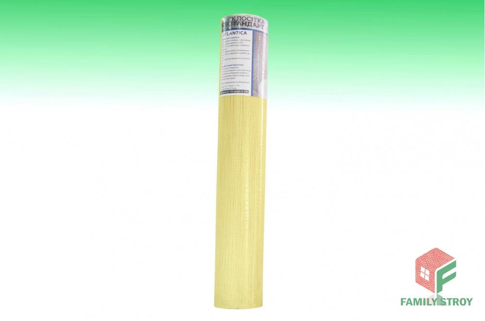 Сетка фасад. штукатур. 1х50м 110гр/м2 ячейка 5*5 желтая